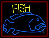 Blue Fish LED Neon Sign