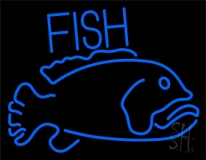 Blue Fish 2 LED Neon Sign