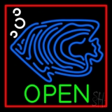 Blue Fish Open Block LED Neon Sign