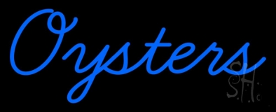 Blue Oysters Cursive LED Neon Sign