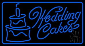 Blue Wedding Cakes 1 LED Neon Sign
