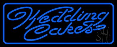 Blue Wedding Cakes Cursive LED Neon Sign