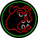 Bull Dog with Oval LED Neon Sign