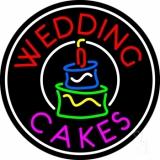 Circle Wedding Cakes LED Neon Sign