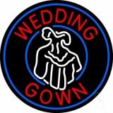 Circle Wedding Gown Logo LED Neon Sign