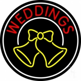 Circle Weddings Bell LED Neon Sign
