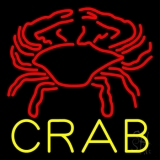 Crab Block With Logo 2 LED Neon Sign