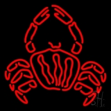 Crab Logo Red LED Neon Sign