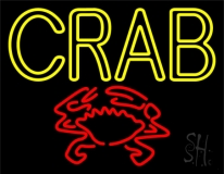 Crab With Logo LED Neon Sign