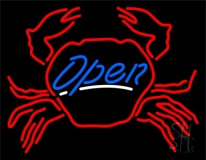Crab Open LED Neon Sign