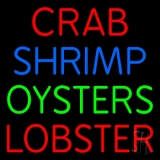 Crab Shrimp Lobster Oyster LED Neon Sign