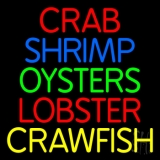 Crab Shrimp Oyster Lobster 1 LED Neon Sign