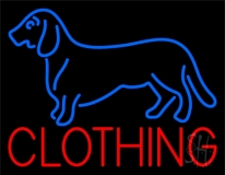 Blue Dog Red Clothing LED Neon Sign