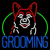 Dog Blue Grooming LED Neon Sign