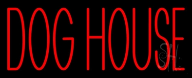 Dog House Block LED Neon Sign