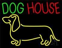 Dog House with Logo LED Neon Sign