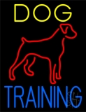 Dog Training Green Border LED Neon Sign