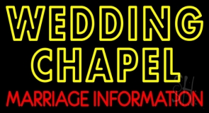 Double Stroke Wedding Chapel Marriage Information LED Neon Sign