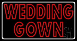 Double Stroke Wedding Gown LED Neon Sign