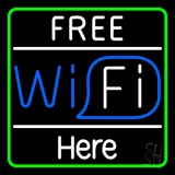 Free Wifi Here LED Neon Sign