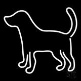 Logo Dog LED Neon Sign
