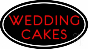 Oval Wedding Cakes LED Neon Sign