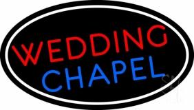 Oval Wedding Chapel Block LED Neon Sign