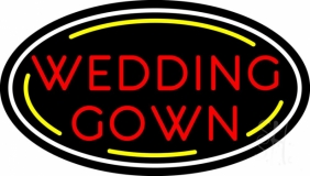 Oval Wedding Gown LED Neon Sign