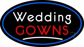 Oval Wedding Gowns LED Neon Sign