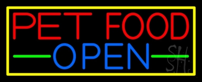 Pet Food Open LED Neon Sign