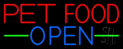 Pet Food Open 1 LED Neon Sign