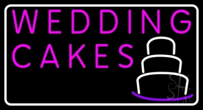 Pink Wedding Cakes LED Neon Sign