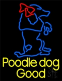 Poodle Dog Logo LED Neon Sign