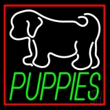 Puppies With Logo LED Neon Sign
