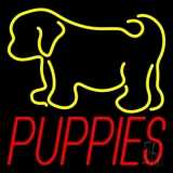 Puppies With Logo 1 LED Neon Sign