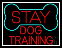 Red Dog Training Block LED Neon Sign