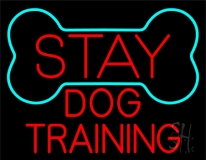Red Dog Training Block 1 LED Neon Sign