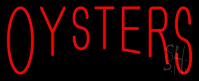 Red Oysters Block LED Neon Sign