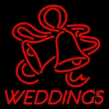 Red Weddings Bell LED Neon Sign