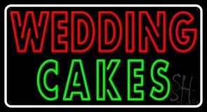 Wedding Cakes Double Stroke LED Neon Sign