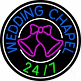 Wedding Chapel With Bell LED Neon Sign