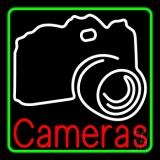 White Camera LED Neon Sign