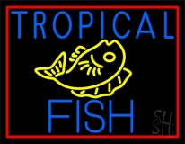 White Tropical Fish Logo LED Neon Sign