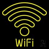 Wifi Retro Blue LED Neon Sign