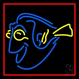 Yellow Blue Fish LED Neon Sign
