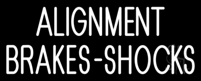 Alignment Brakes Shocks LED Neon Sign