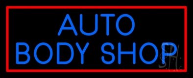 Auto Body Shop 2 LED Neon Sign