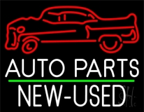 Auto Parts New Used Car Logo 1 LED Neon Sign