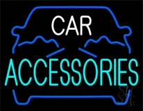 Blue Car Accessories 1 LED Neon Sign