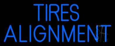 Blue Tires Alignment LED Neon Sign